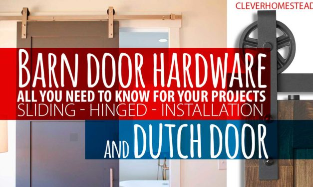 Best BARN DOOR hardware (2020), DIY barn door, SWINGING doors and DUTCH door