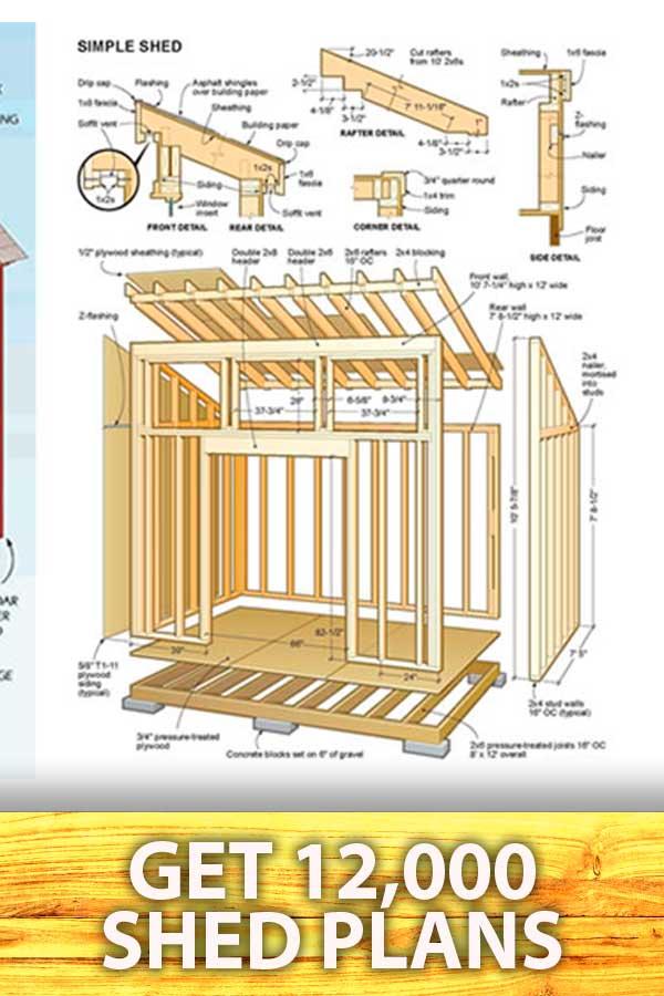 pinterest pins shed plans building 8, Optin Shed Plans
