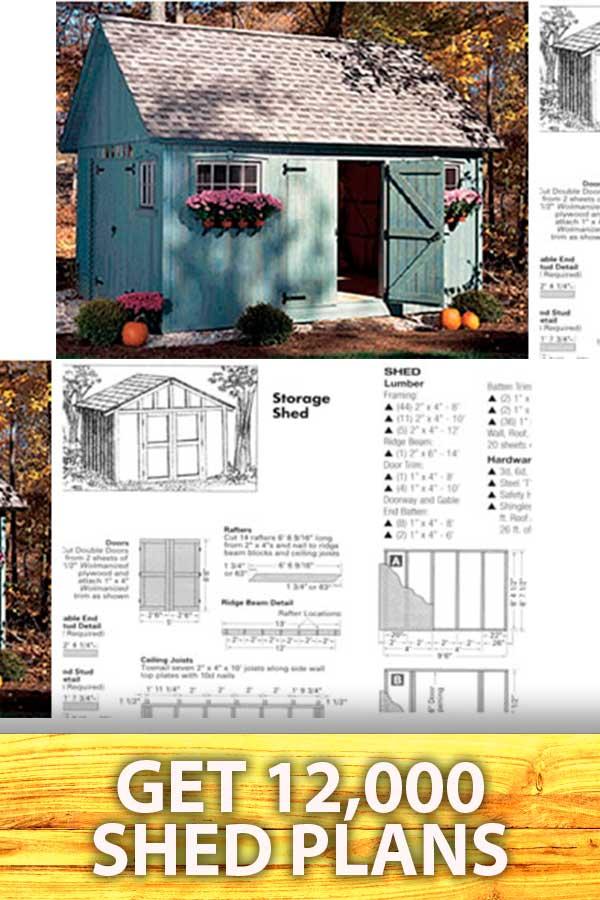 pinterest pins shed plans building 9 1, Optin Shed Plans